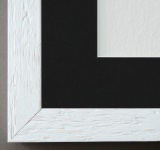 Bilderrahmen Rimini in Weiss mit Passepartout in Schwarz 3, 0 Top Qualität
