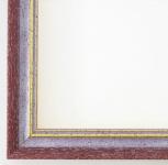 Bilderrahmen Rahmen Holz Klassisch Braunschweig in Rot Gold 2, 5 - Top Qualität