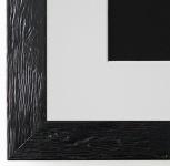 Bilderrahmen Rimini in Schwarz mit Passepartout in Weiss 3, 0 Top Qualität