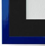 Bilderrahmen Como in Blau Lack mit Passepartout in Schwarz 2, 0 Top Qualität