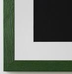Bilderrahmen Siena in Grün mit Passepartout in Weiss 2, 0 Top Qualität