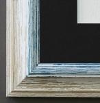 Bilderrahmen Bari in Beige Blau mit Passepartout in Schwarz 4, 2 Top Qualität