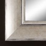 Spiegel Wandspiegel Holzrahmen Modern Vintage Shabby Landhaus Corona Silber 6, 9