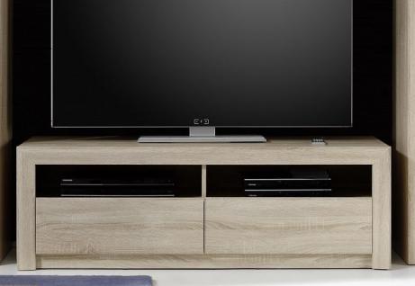 TV Unterteil Lowboard Sevilla Eiche Sonoma hell mit Schubkästen 140 x 46 cm