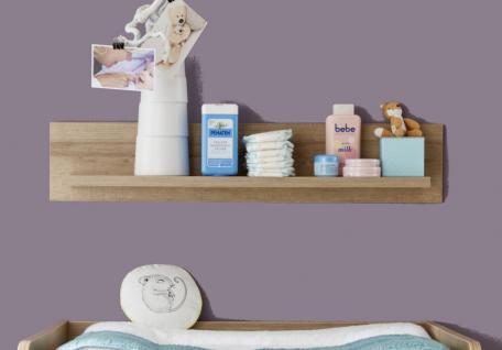 Wandregal für Babyzimmer Boston in Eiche Riviera Honig 100 cm