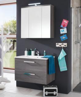 Badmöbel Set Waschplatz mit Waschbecken Adamo in Sardegna grau 80 cm