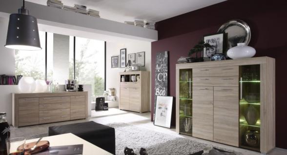 kommode highboard boom eiche s gerau hell 120 x 137 cm kaufen bei oe online einrichten gmbh. Black Bedroom Furniture Sets. Home Design Ideas