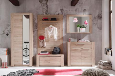 Garderobe Garderobenkombination Cougar San Remo Eiche hell 5-teilig