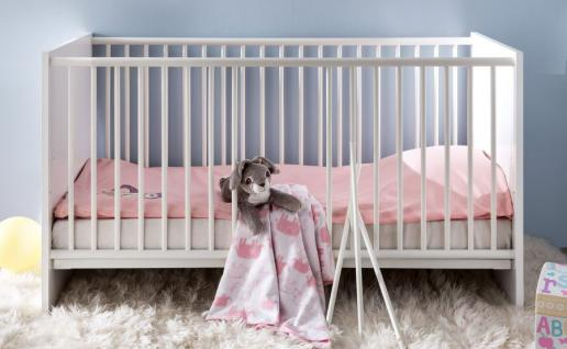 Babybett Gitterbett Ronja in weiß Liegefläche 70x140 cm mit Lattenrost