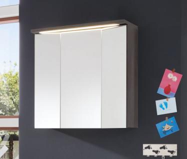 Spiegelschrank Schrank Adamo Sardegna rauchsilber inkl. Beleuchtung