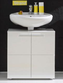 Badmöbel Waschbeckenunterschrank Bora Hochglanz weiß GE1111-06