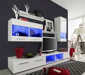 Wohnwand beleuchtung online bestellen bei yatego for Wohnwand 250 cm