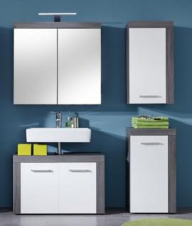 spiegelschrank miami badezimmer schrank sardegna rauchsilber grau led spiegellampe kaufen bei. Black Bedroom Furniture Sets. Home Design Ideas
