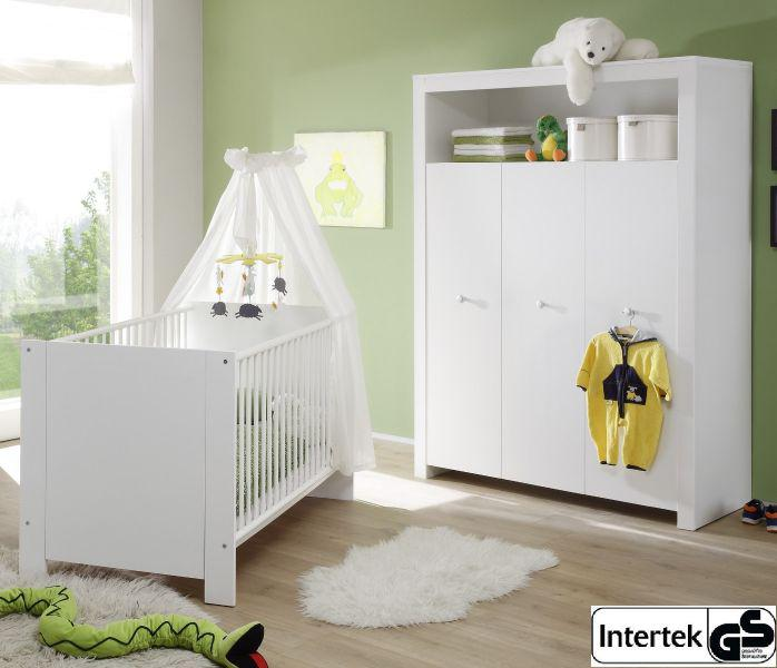 babyzimmer set olivia wei 2 teilig babybett und kleiderschrank kaufen bei oe online. Black Bedroom Furniture Sets. Home Design Ideas