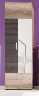 Garderobe garderobenschrank flurgarderobe polo 60 x 191 cm for Garderobe 60 cm