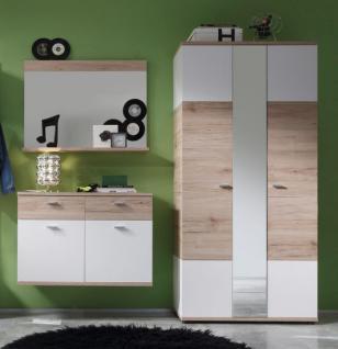 schuhschrank kommode flurm bel campus san remo eiche hell mit wei 57 x 138 cm kaufen bei oe. Black Bedroom Furniture Sets. Home Design Ideas