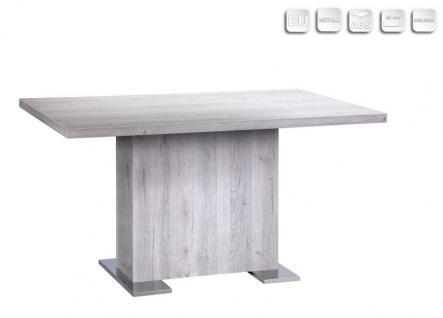 Esstisch Küchentisch Bento Sorento Eiche 140 x 90 cm verchromte Füße