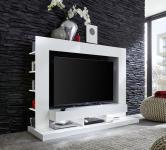Medienwand TV Unterteil Cyneplex weiss glänzend 164 x 124 cm LED Beleuchtung