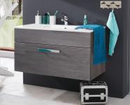 Waschbeckenunterschrank Unterschrank Adamo Sardegna rauchsilber inkl. Waschbecken