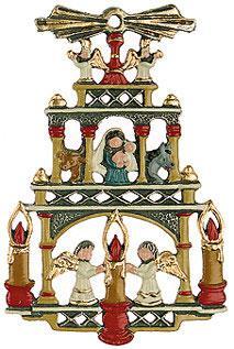 Zinn Weihnachtspyramide