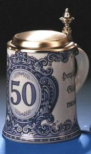 Porzellan Bierkrug 0, 5l Geburtstag 50 Jahre