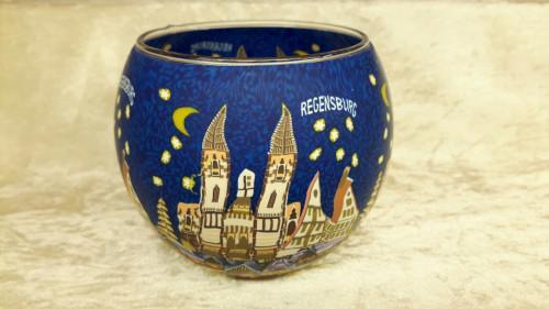 Leuchtglas 11cm Regensburg Weihnachtsmarkt
