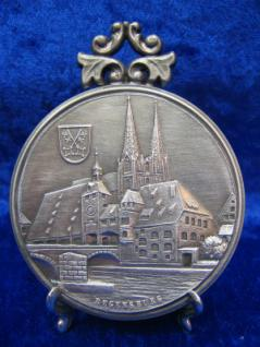 Zinnplakette Regensburg Dom 6, 0cm (Ö)