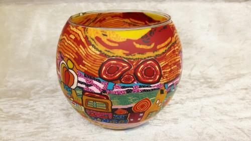 Leuchtglas 11cm Hundertwasser #2