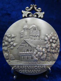 Zinnplakette Grafenwöhr 6, 0cm (Ö)
