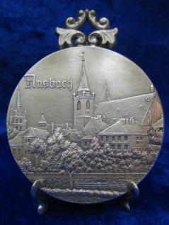 Zinnplakette Ansbach 6, 0cm (Ö)