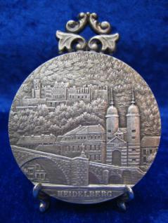 Zinnplakette Heidelberg 6, 0cm (Ö)