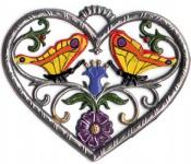Herz mit Schmetterlingen klein