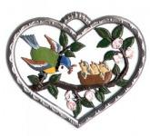 Herz mit Vogelfamilie klein