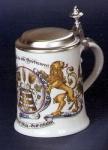 Porzellan Bierkrug 0, 5l Hopfen und Malz