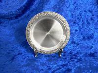 Zinn Untersetzer Rosenrand 10cm