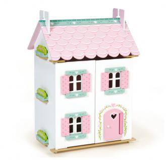 Puppenhaus Puppenstube Kinderspielhaus Haus Möbel set NEU 110368