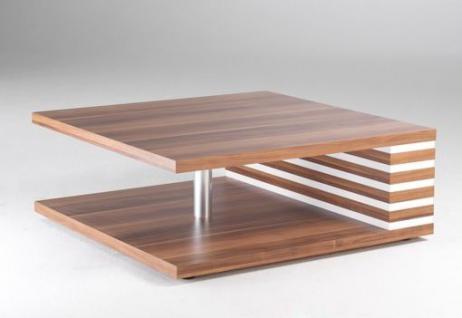 Couchtisch Beistelltisch Tisch Nussbaum weiß NEU & OVP