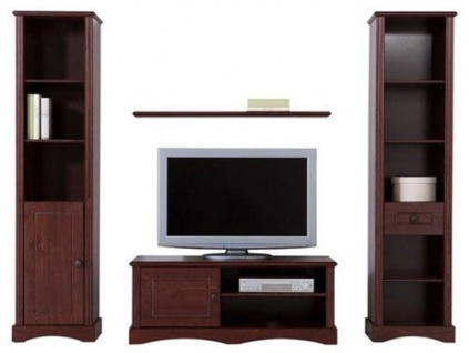 anbauwand buche wohnwand g nstig kaufen bei yatego. Black Bedroom Furniture Sets. Home Design Ideas
