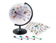 Malglobus Globus Stifte Aufkleber KInderglobus Weltkugel Kinder NEU 110370