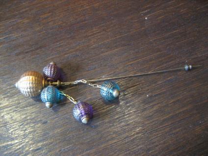 originelle lange Vintage Hutnadel plastische Glas Ballons Rarität Hat Pin
