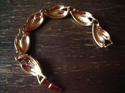 exquisite Vintage Designer Armband Trifari Schwarz Gold 80er Jahre Eighties - Vorschau 4