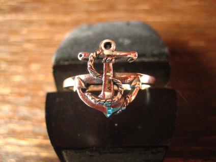 maritimer Herrenring Ring Anker für Piraten 925er Silber neu et Nox 19, 5 mm G 62