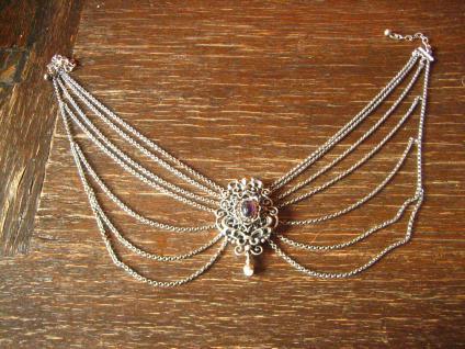 traumhafte Kropfkette Trachten Kette Collier Dirndl 835er Silber 7 x Erbskette