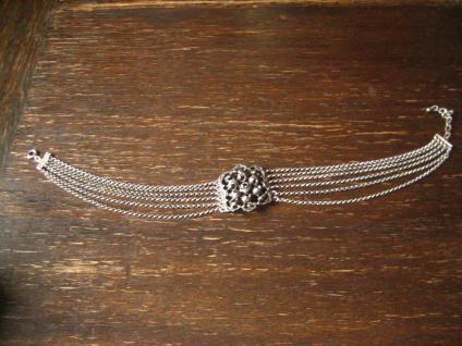 üppige Kropfkette Trachten Kette Collier Kropfband Dirndl 925er Silber Erbskette