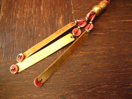 ausgefallene ultra coole Statement Collier Kette Designer Leonardi Arte rot gold - Vorschau 2