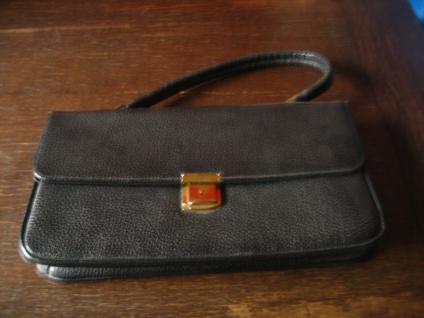 witzige 60er Jahre vintage Baguette Tasche Handtasche Tasche Clutch schwarz