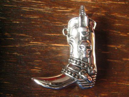 origineller Cowboystiefel Cowboy Stiefel Western Biker Anhänger Edelstahl NEU
