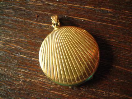 klassischer Jugendstil Medallion Anhänger gold Strahlen Muster Damen & Herren