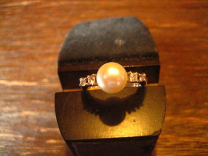 Traum Akoya Perlen Brilliant Ring Perle Perlenring 585er Weißgold Brillianten