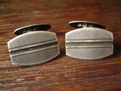 zeitlos elegante Art Deco Manschettenknöpfe 835er Silber klassisch und edel